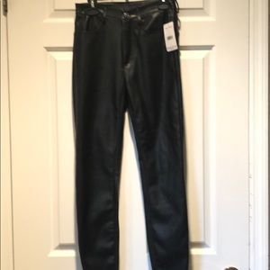 """Free People """"leather"""" jeans"""